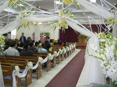things to mark pews at weddings | Church Pews Wedding Decorations | Wedding Decorations