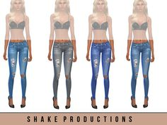 Skinny jeans with 4 color  Found in TSR Category 'Sims 4 Female Everyday'