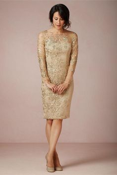 Golden Lace Gorgeous Mothers Dresses