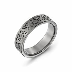 Men's Titanium Trinity Promise Ring