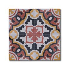 Baha Red and Yellow Handmade Cement and Granite Moroccan Tile 8-inch Floor and Wall Tile (Pack of 12) - Overstock Shopping - Great Deals on Accent Pieces