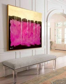 Large wall art, Large acrylic, Painting on canvas, Gold & Purple, Acrylic abstract, Wall hangings, Gold Art, Modern Art, Large art painting By Ron Deri ------------------------------ #4 Top Seller painting ------------------------------ SHIPPED STRETCHED on inside wood frame and READY
