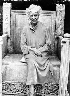 Peggy Guggenheim, in the garden of his palace in Venice in 1979. I sat in this chair in 2008