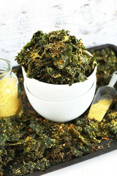 30-Minute Cheesy Kale Chips