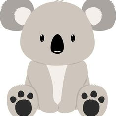 size: 12x12in Art Print: Koala Bear by M.G : Koala Baby, Koala Tattoo, Koala Illustration, Koala Craft, Baby Animals, Cute Animals, Bear Paintings, Bear Drawing, Bear Crafts