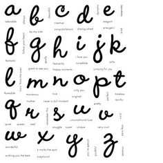 Keepsake Alphabet E Love This Cursive Alphabet Stamp Set It Even Comes With Words So