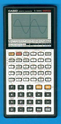 CASIO 7000G. Calculatrice graphique 1985. La tuerie du lycée, celle pour passer le bac en 1988.