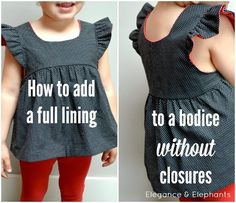 Elegance & Elephants: Adding a Full Lining to a Bodice Without Closures