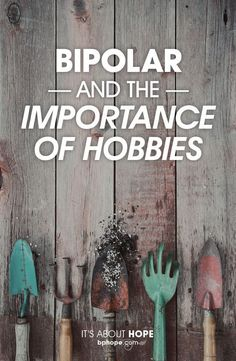 As someone with bipolar disorder I can't tell you how many times I have been told that a hobby would be good for me. I took this to heart for a while. I have started many hobbies. Most I have done for about five minutes each. #UnderstandingDerealization