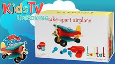 Battat Take-A-Part Airplane Encourages mechanical and motor skills with easy-to-assemble parts  Kids learn how to take things apart and put them back together with the Battat Take-A-Part Airplane. Children can get right to work with these tools and parts that are designed for young hands. The nifty powered screwdriver works just like the grown-up version turning in two different directions to loosen and tighten connectors. It includes three different bits to fit the airplane's various…