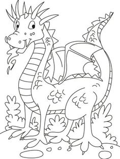 Lá Gaeilge - No companion, but this dragon is in playful mood coloring pages Colouring Pics, Coloring Book Pages, Coloring Pages For Kids, Coloring Sheets, Elsa Coloring, Dragon Coloring Page, Dragon Party, Mood Colors, Printable Pictures