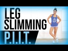 Inner thighs, outer thighs, calves, quads, and butt! We are hitting EVERYTHING lower body today in this leg slimming PIIT workout! It's only 7 moves - 45 sec on and 15 sec off. It's going to get you burning fat and building lean muscle in your legs like nobody's business! LET'S GO!!