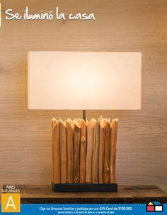 Se iluminó la casa #concurso Decor, Wood, Lighting, Lamp, Home Center, Table, Home Decor, Lights