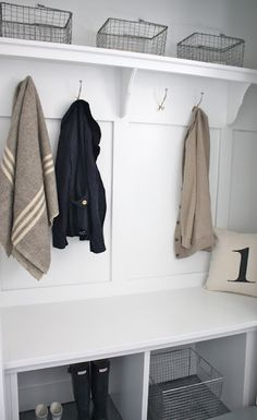 Coordinately Yours, by Julie Blanner | Entertaining & Design Blog that Celebrates Life: Closet Converted Mudroom