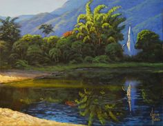 Barra do Una brazilian beach / oil painting / landscape / landscapes / paintings / fine art by MarcioPetroniArt