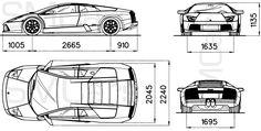 automobile blueprints | Car Blueprints Lamborghini Pictures