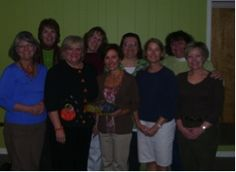 """This group of lovely ladies is from First Baptist Church of Roanoke, Virgina.  Bev Motley sent in two photos of two groups doing Scouting the Divine. One groups meets on Tuesdays mornings while the other meets on Tuesday evenings: """". . . Most work full time outside the home and are exhausted when they arrive. The LORD has used this study however, to challenge some of them to participate—in the discussion…in life outside of their jobs, etc. A more abundant life…woohoo GOD!"""""""