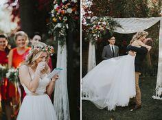 Rebecca + John's Colorful Bohemian DIY Wedding | Victoria Carlson
