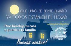 Dios bendiga tu casa y guarde a tu familia... buenas noches - Tarjetas con mensajes cristianos