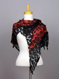 37e90ffe0857 Châle rouge châle fleurie écharpe dentelle fleurie noir châle dentelle  fleurie noir châle foulard dentelle étole