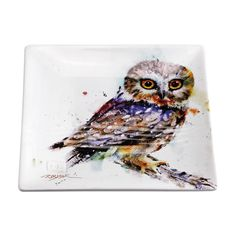 Saw-Whet Owl Snack Plate (7 ) by Big Sky Carvers Dean Crouser Multicolor | eBay