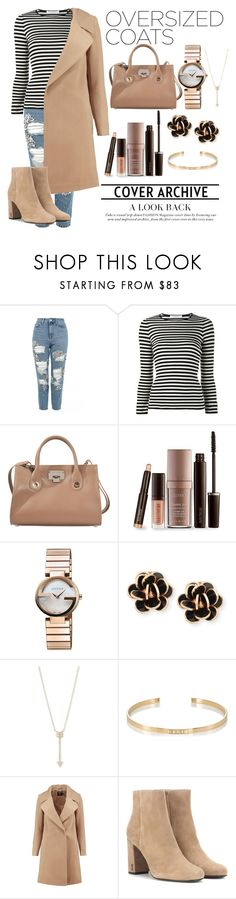 """Creme Coat"" by derangedlife ❤ liked on Polyvore featuring Topshop, Philosophy di Lorenzo Serafini, Jimmy Choo, Laura Mercier, Gucci, Chantecler, EF Collection, Ileana Makri, Boohoo and Yves Saint Laurent"