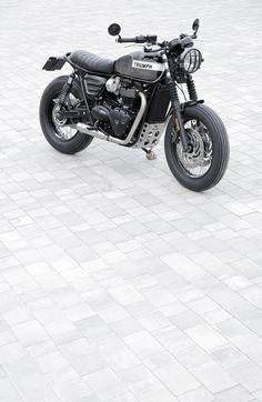 Triumph Bonneville T120, Triumph Scrambler, Scrambler Custom, Triumph Motorcycles, Brat Motorcycle, Tracker Motorcycle, Motorcycle Design, Audi Tt, Street Tracker