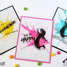 Jumping Girl - Silhouette Stamp - Ink splashes - Visible Image - giogiocraft Hope Art, Breakdance, Image Stamp, Halloween Tags, Girl Silhouette, Just Be Happy, Art Journal Pages, Ink, Projects