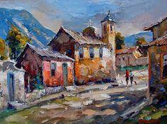 City Art, Georges Braque, Miguel Angel, Tourist Places, Art For Art Sake, Palette Knife, Architecture Art, Landscape, Painting