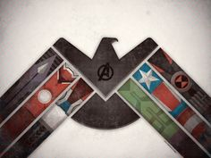 The Avengers assembled into one symbol. Awesomesauce.