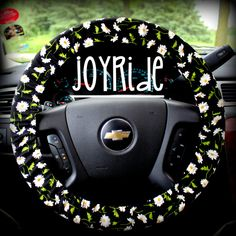 Steering Wheel Cover Daisy Chain Summer Trend by JoyRideCovers, $12.50