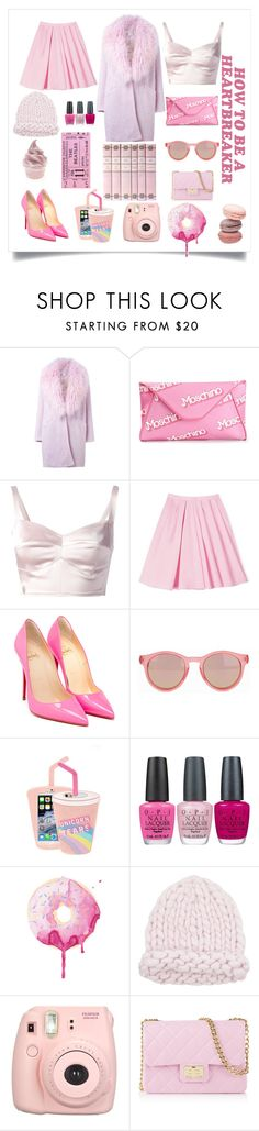 """""""Amusant."""" by teddy-oconner ❤ liked on Polyvore featuring Elizabeth and James, Moschino, Philipp Plein, Carven, Christian Louboutin, Le Specs, Skinnydip, OPI and Design Inverso"""