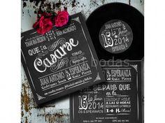 Invitación de boda - DISCO DE VINILO PIZARRA N830-630