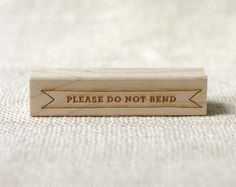 please do not bend stamp | Wit & Whistle