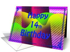 Happy Birthday Abstract ~ 14th card