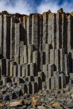 Basalt columns in Iceland. Travelling to Iceland should be on your list! Places To Travel, Places To See, Formations Rocheuses, Basalt Columns, Iceland Travel, Natural Wonders, Amazing Nature, Beautiful Landscapes, Wonders Of The World