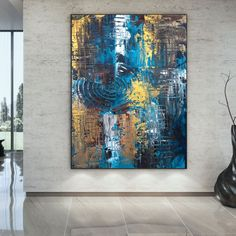 Oversized Wall Art Abstract Painting On Canvas Office image 5 Large Canvas Wall Art, Abstract Canvas Art, Extra Large Wall Art, Colorful Artwork, Colorful Paintings, Watercolor Art Paintings, Original Paintings, Original Art, Oversized Wall Art