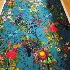 nother fabric for next project has arrived. Can't wait to see this one o Floral Upholstery Fabric, Victorian Wallpaper, Timorous Beasties, Art Deco Decor, Botanical Decor, Up House, Wall Patterns, I Wallpaper, Color Of Life