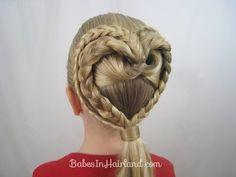 2 Braided Hearts |  Valentine's Day Hairstyle | BabesInHairland.com