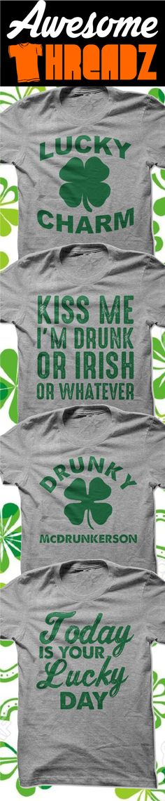 St. Patrick's Day Shirts Are Here. Check out our entire collection from Awesome Threadz
