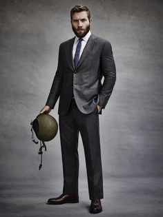 Jai Courtney - his suit, shirt, tie, shoes, his hair and awesome beard.