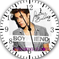 "New Justin Bieber wall clock 10"" Room Decor A456 Fast shipping | eBay I love Bieber"