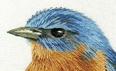 Oiseau peinture à l'aiguille http://goldnstitches.typepad.com/gold-n-stitches/page/2/