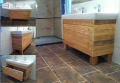 Bathroom Idea With Recycled Pallet Wood Pallet Cabinets & Pallet Wardrobes
