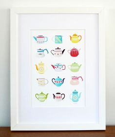 Hey, I found this really awesome Etsy listing at https://www.etsy.com/listing/58142728/teapots-art-print-retro-kitchen-decor