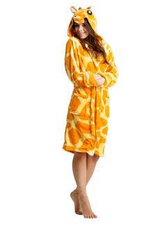Wygodny szlafrok damski koloru pomarańczowego z kieszeniami i kapturem żyrafa Fashion, Dress, Moda, La Mode, Fasion, Fashion Models, Trendy Fashion
