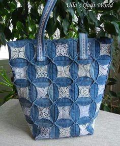 Neat purse made from denim scraps