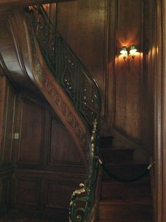 library stairs at Carolands Chateau in Hillsborough