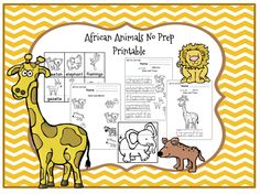Preschool Printables: African Animals No Prep Printable