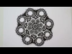 Zentangle #8 * Zeitraffer - YouTube